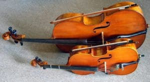High and Low Frequencies from VIolin and Cello